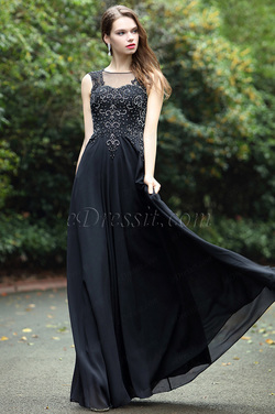 eDressit Black Sweetheart Evening Dress with Lace and Beads