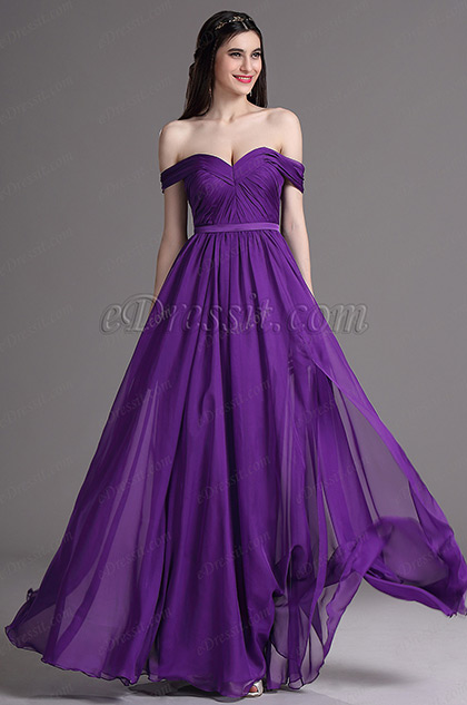 eDressit Purple Sweetheart High Slit Formal Evening Dress