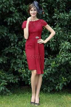 eDressit Burgundy Lace Mother of the Bride Dress