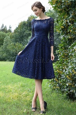 eDressit Long Sleeves Blue Lace Mother of the Bride Dre