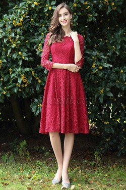 eDressit Long Sleeves Red Lace Cocktail Party Dress