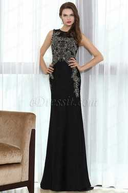 eDressit Black Lace Beaded Prom Occasion Dress