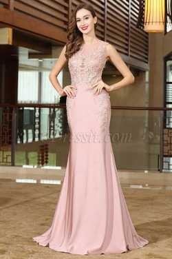 eDressit Pink Lace Beaded Wedding Guests Dress